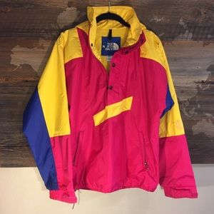 The North Face Vintage Neon Windbreaker, Size XS